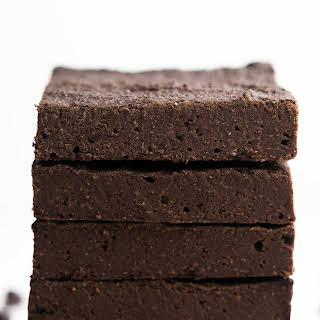 Healthy Sugar-Free Fudgy Dark Chocolate Brownies.