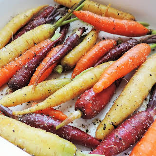 Tri-Colored Roasted Carrots.