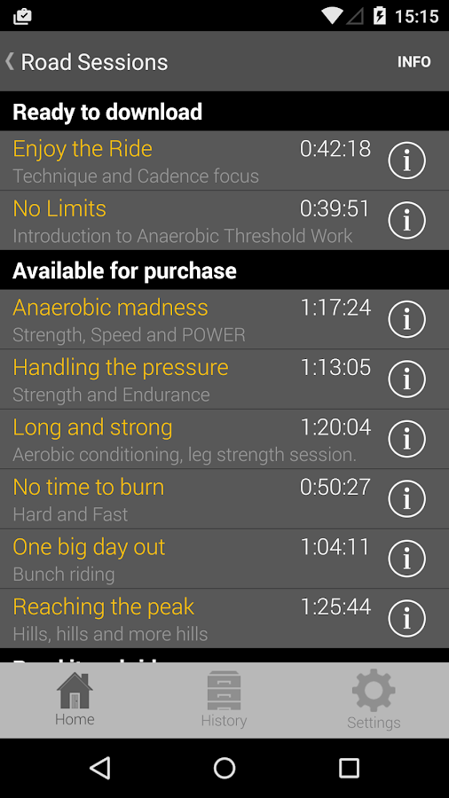 CYCLE COACH APP LITE- screenshot