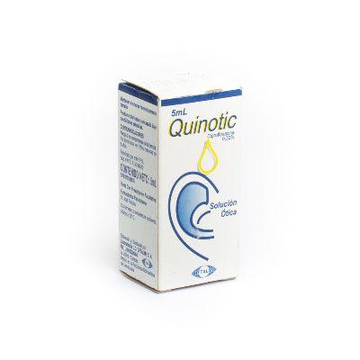 ciprofloxacina quinotic 0,3% 5ml solucion otica oftalmi Oftalmi