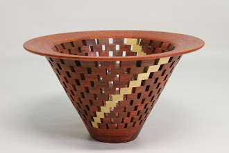 "Photo: Bob Grudburg 5 3/4"" x 14""  open segmented bowl [mahogany, pecan]"
