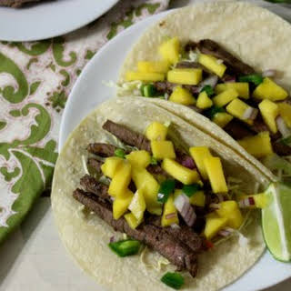 Sweet & Spicy Beef Tacos.