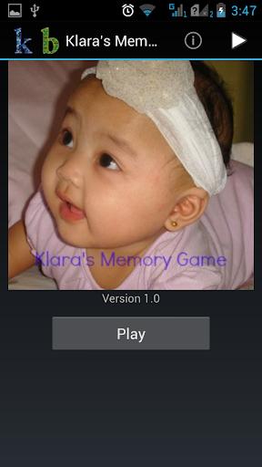 Klara's Memory Game