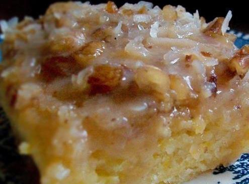 Peachy Pudding Cake Recipe