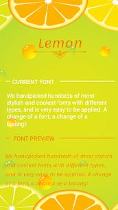 Lemonada Font for FlipFont , Cool Fonts Text Free 40.0 Mod APK (Unlock All) 1