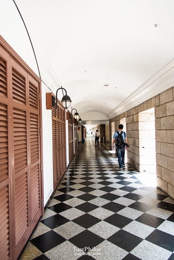 美利樓一樓的長廊~有濃濃的歐風。