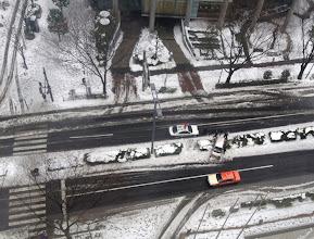 Photo: Car on median strip