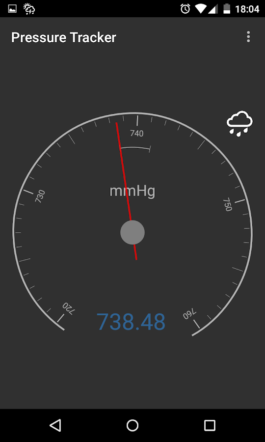 Barometer pressure tracker android apps on google play for Barometric pressure app for fishing