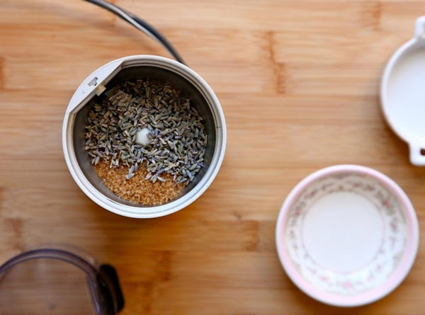 In a small spice grinder (or coffee grinder) add 1 tablespoon lavender and 1...