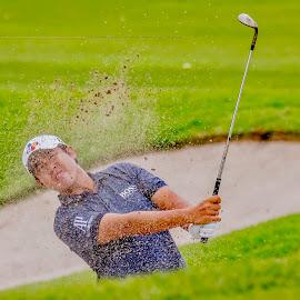 Sand Spray by Ken Nicol - Sports & Fitness Golf