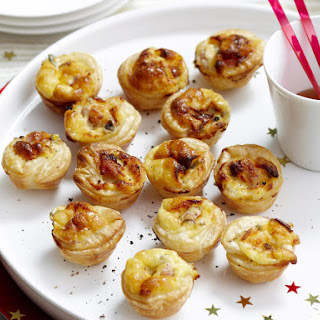 Blue Cheese and Prosciutto Puffs.