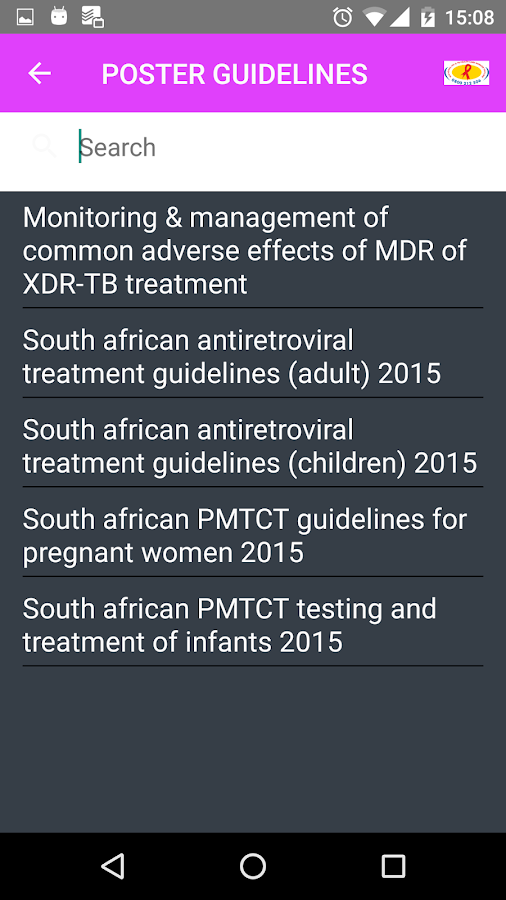 SA HIV/TB Hotline- screenshot