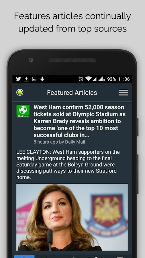 West Ham News- screenshot