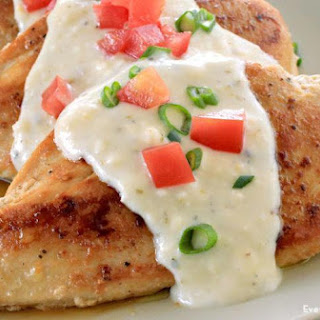 Chicken with Feta Cheese Sauce Recipe