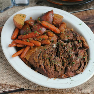 Perfectly Cooked Crock Pot Beef Roast.