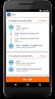 Screenshot of Bravofly: flights and Hotels
