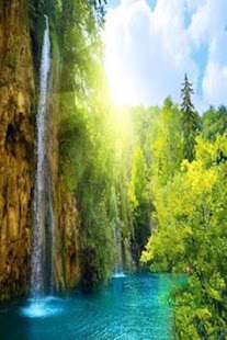 Waterfall Nature's Wallpapers - náhled