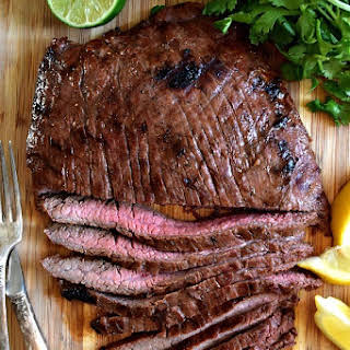 Marinated & Grilled Flank Steak .