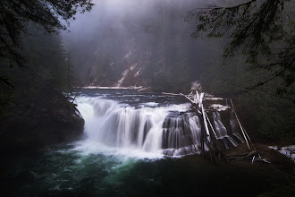 Photo: Lower Lewis Falls, Washington  The first time I saw this waterfall was this past summer in the early morning. The light was magnificent and lit up the trees around the falls in bright greens and yellows. This past weekend I ventured up for a second visit with +Brian Matiash and +Nicole S. Young for their first visit.  Due to the recent rains the water flow was significantly higher and changed the look of the falls a bit. A bunch of the details that I enjoyed in the summer were lost in the high flow. The high flow also prevented us from being able to get down to water level for other vantages of the falls. Ultimately we were stuck with a singular view of the falls from the main lookout point.  This go around at the falls didn't provide as many shots as the last but I always enjoy getting out in nature to explore this wonderful area we live in.  #waterfall #northwest #landscapephotography #pacificnorthwest #photography #washington
