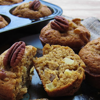 Apple Pumpkin Pecan Muffins
