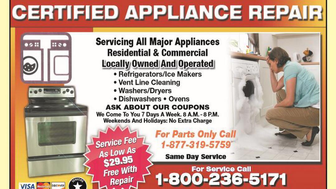 Certified Appliance Repair, LLC - Appliance Repair Service