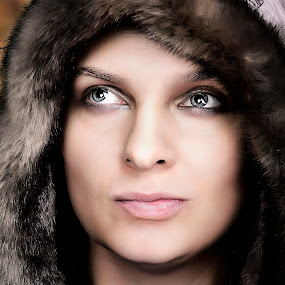 Blue Eyes by Mario Toth - People Portraits of Women ( winter, woman, blue eyes, portrait,  )