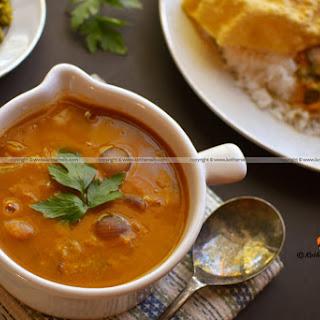 Onion Sambar, Masala Sambar, Arachuvitta Sambar.