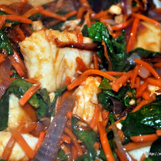 Tilapia Stir Fry with Orange and Ginger Sauce