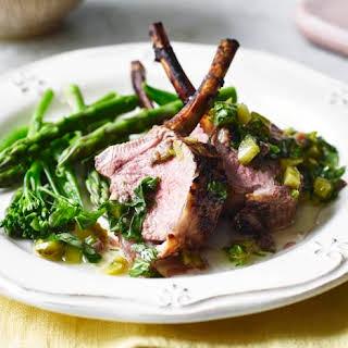 Rack Of Lamb With Salsa Verde.