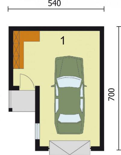 G18 bliźniak - Rzut garażu