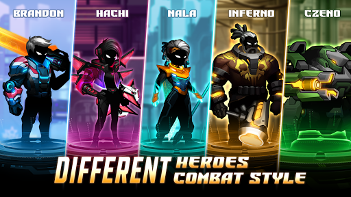 Cyber Fighters: Shadow Legends in Cyberpunk City apkmr screenshots 4