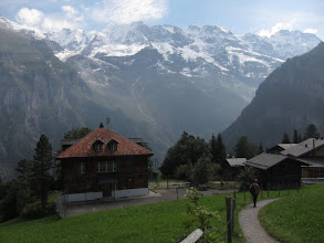 Photo: From Gimmelwald ...