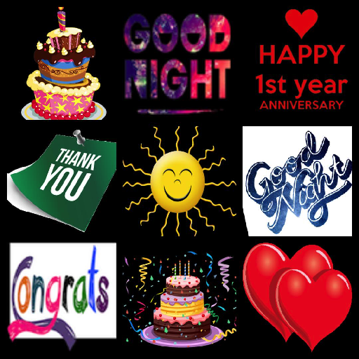App Insights Happy Birthday Stickers Good Morning Night Thanky