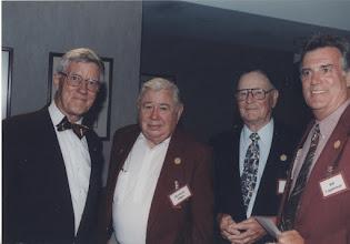 Photo: 2000 Hall of Fame Banquet - Bill Cappleman, Bernard Sliger with friends