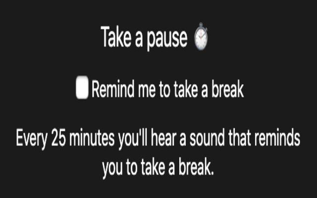 Pauses reminder