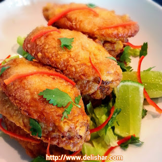 Crispy Baked Tom Yum Chicken Wings.