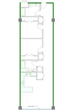 Clemente Floorplan Diagram 1020-1150 sq ft