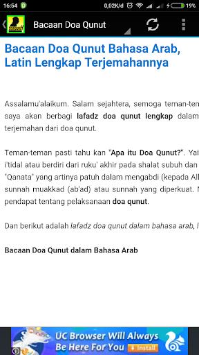 Download Bacaan Doa Qunut Bahasa Arab Latin Terjemahannya