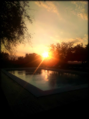 Tramonto in piscina di PhotoLoris