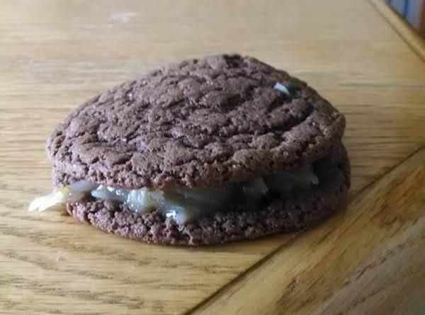 German Chocolate Sandwich Cake Cookies
