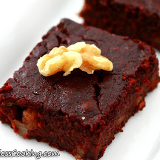Oat Flour and Beet Brownies