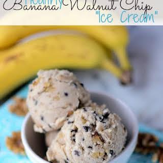 Healthy Banana Nut Chip Ice Cream.
