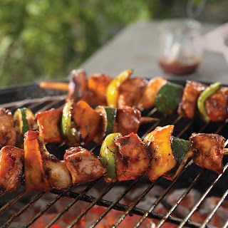 Easy, Breezy Honey-Chipotle Pork Kabobs.