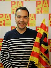 Photo: Monzón: II Feria de Asociaciones. Jesús Guerrero (PAR). Recogiendo ideas para mejorar Monzón.