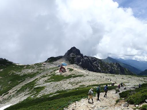 宝剣岳方面へ