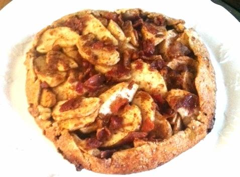 take dough out of fridge. place the apples in the center of the dough....