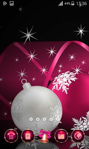 ピンクの輝きのクリスマスのテーマ|玩個人化App免費|玩APPs