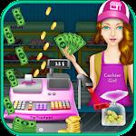 Cash Register Supermarket Girl Icon