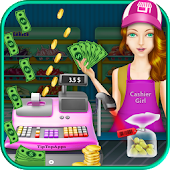 Cash Register Supermarket Girl