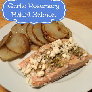 Garlic Rosemary Baked Salmon with Feta
